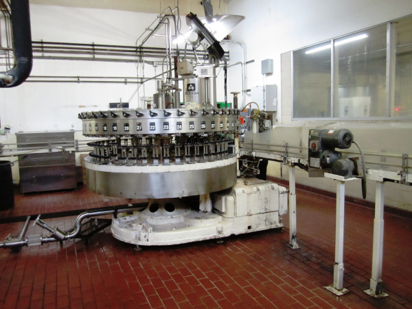 Used CROWN 45 Valve Bottle Filler with 6 head capper